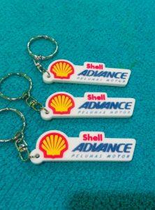 Gantungan kunci karet shell